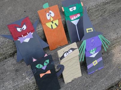halloween-paper-bag-puppets