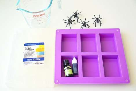 supplies-for-making-halloween-spider-soap