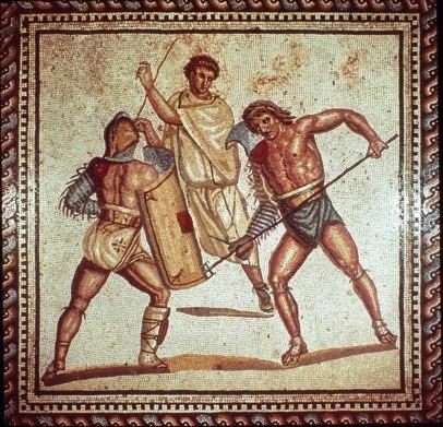 roman-mosaic-gladiators