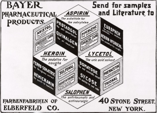 Early Bayer Pharmaceutical Advertisement
